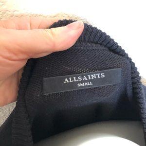 All Saints Sweaters - ALLSAINTS Lanta Black Cotton Jumper sz. S